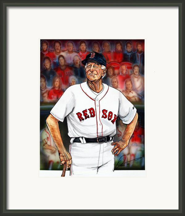 Johnny Pesky  Framed Print By Dave Olsen