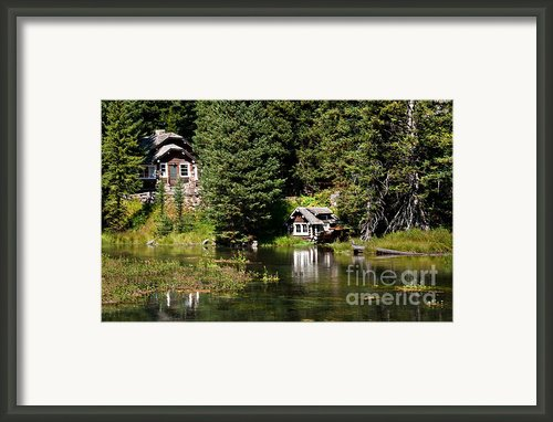 Johnny Sack Cabin Framed Print By Robert Bales