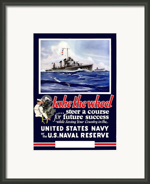 Join The Us Navy Framed Print By War Is Hell Store