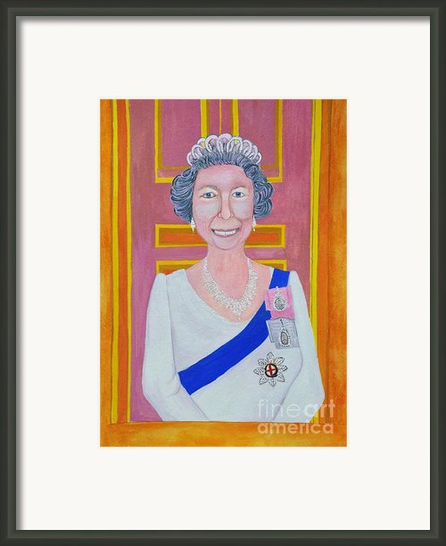 Jolly Good Your Majesty Framed Print By Reb Frost