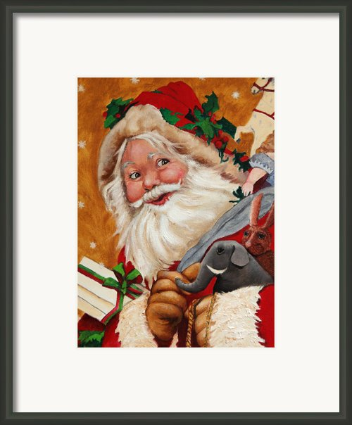 Jolly Santa Framed Print By Enzie Shahmiri