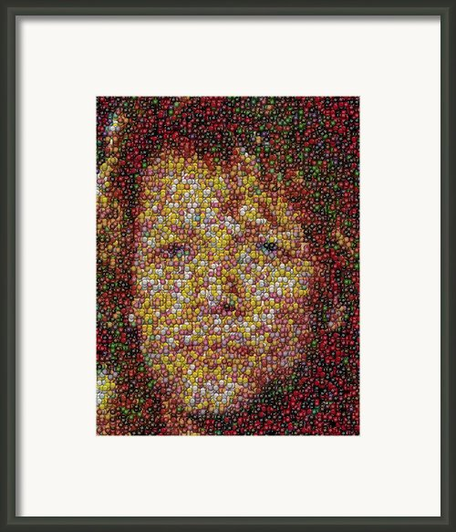 Jon Bon Jovi Mm Mosaic Framed Print By Paul Van Scott