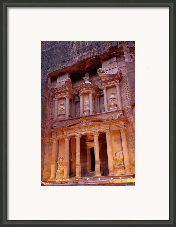 Jordan, Petra, The Treasury Framed Print By Nevada Wier