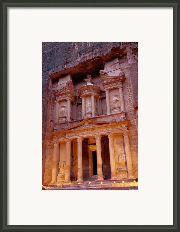Jordan, Petra, The Treasury Framed Print By Nevada Wier