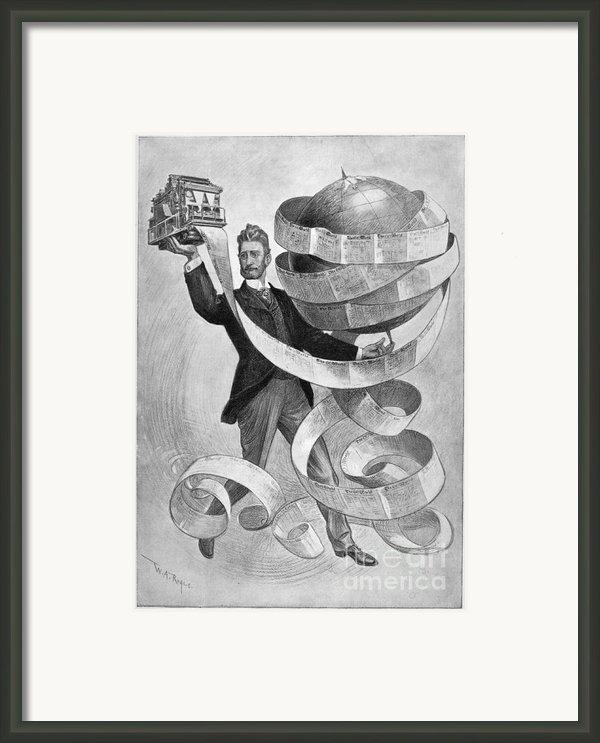 Joseph Pulitzer Framed Print By Granger