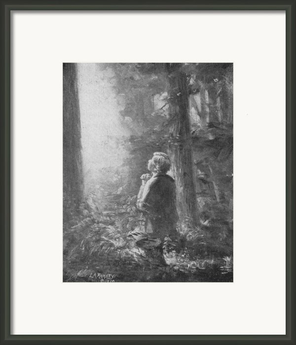 Joseph Smith Praying In The Grove Framed Print By Lewis A Ramsey