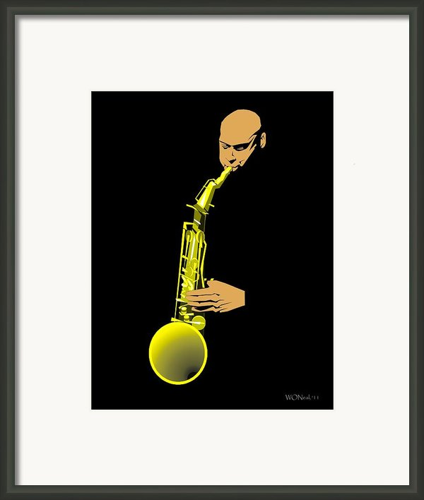 Joshua Redman Framed Print By Walter Oliver Neal