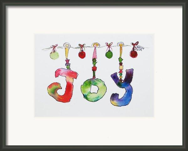 Joy Framed Print By Becky Kim