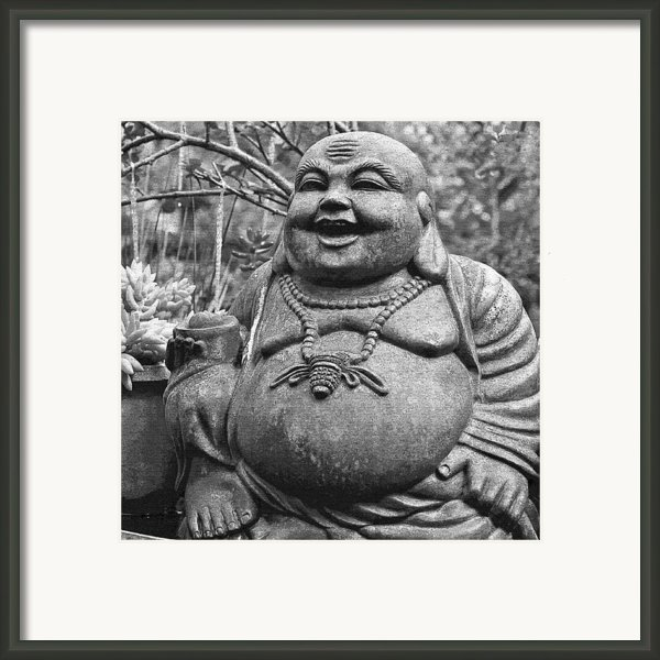 Joyful Lord Buddha Framed Print By Karon Melillo Devega
