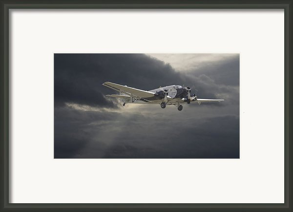 Ju52 -- Iron Annie Framed Print By Pat Speirs