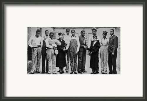 Juanita E. Jackson Of The Naacp Framed Print By Everett