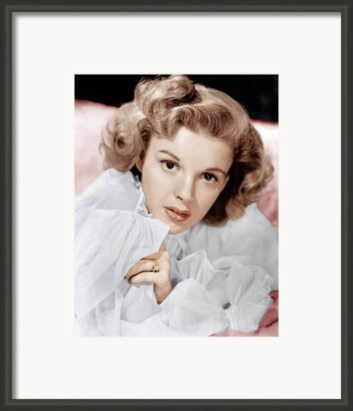 Judy Garland, Ca. 1943 Framed Print By Everett
