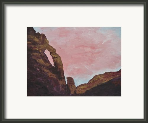 Jug Handle Arch Framed Print By Estephy Sabin Figueroa