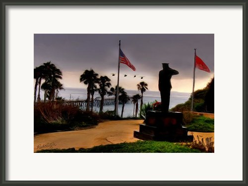 July 4th San Clemente Flyover Framed Print By Barbara Radcliffe