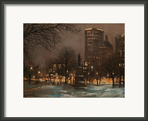Juneau Park Milwaukee Framed Print By Tom Shropshire