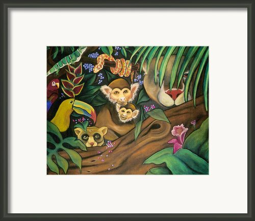 Jungle Fever Framed Print By Juliana Dube