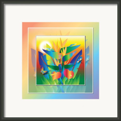 Jungle Sunset Framed Print By Jack Potter
