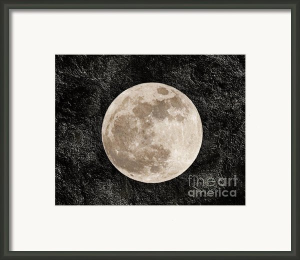 Just A Little Ole Super Moon Framed Print By Andee Photography