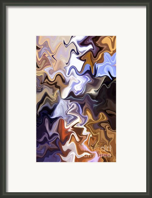Just Abstract Vi Framed Print By Chris Butler