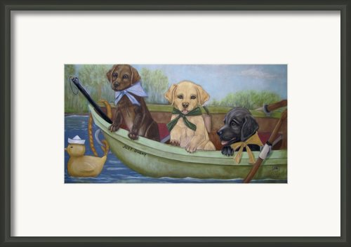 Just Ducky Framed Print By Teresa Leclerc