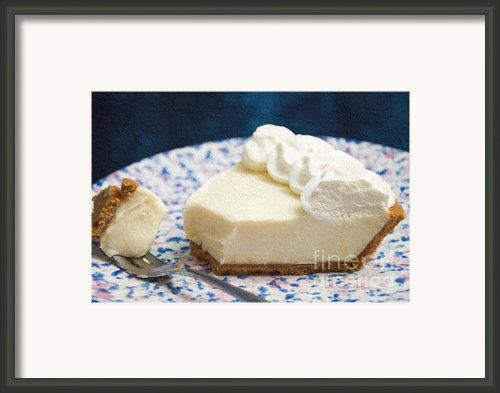 Just One Bite Of Key Lime Pie Framed Print By Andee Photography