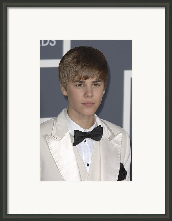 Justin Bieber At Arrivals For The 53rd Framed Print By Everett