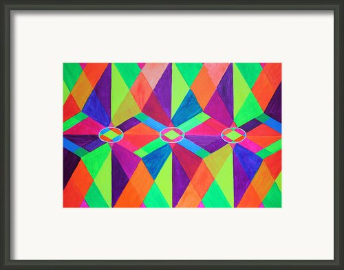 Kaleidoscope Wise Framed Print By Ann Sokolovich