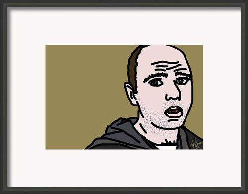 Karl Pilkington Framed Print By Jera Sky