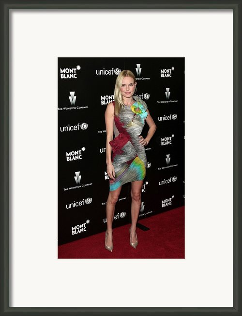Kate Bosworth Wearing A Peter Pilotto Framed Print By Everett