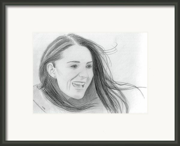 Kate Middleton - Duchess Of Cambridge Framed Print By Pat Moore