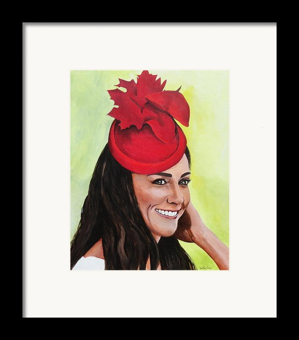 Katherine Duchess Of Cambridge Framed Print By Betty-anne Mcdonald
