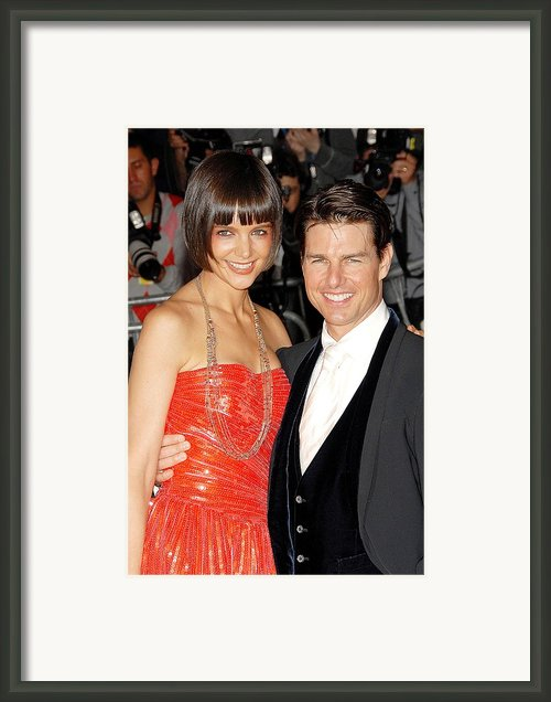 Katie Holmes Wearing A Boucheron Framed Print By Everett