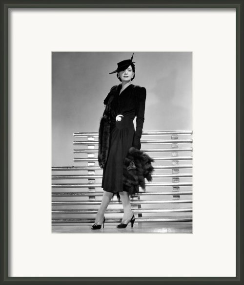 Kay Francis, 1941 Framed Print By Everett
