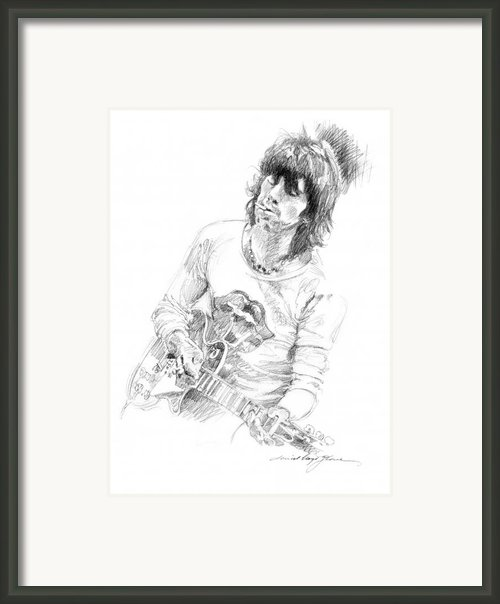 Keith Richards Exile Framed Print By David Lloyd Glover