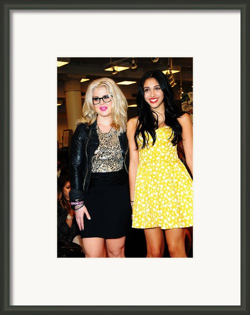 Kelly Osbourne, Lourdes Leon Framed Print By Everett