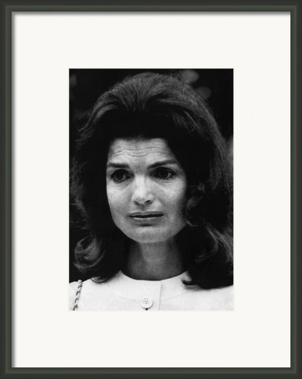 Kennedy Family. Former First Lady Framed Print By Everett