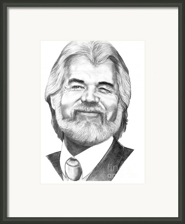 Kenny Rogers Framed Print By Murphy Elliott