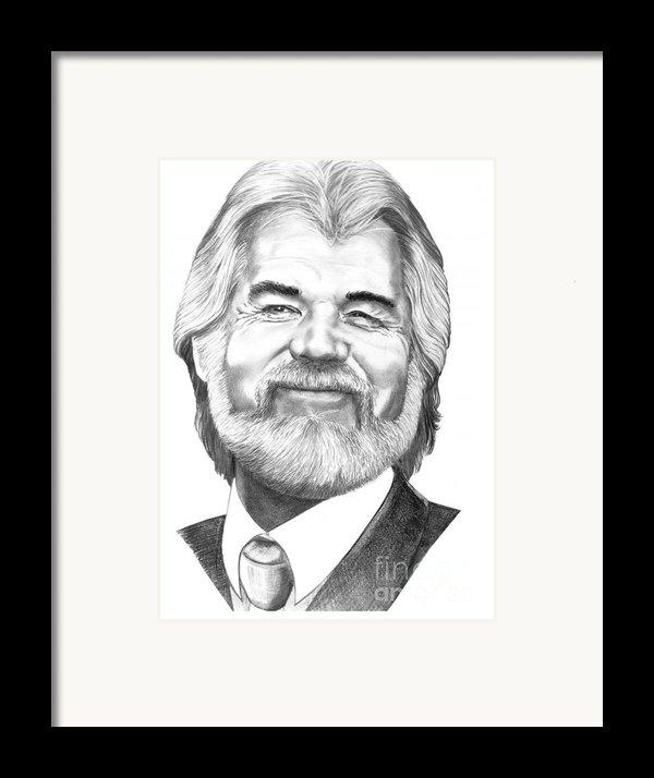 Kenny Rogers Framed Print By Murphy Elliott