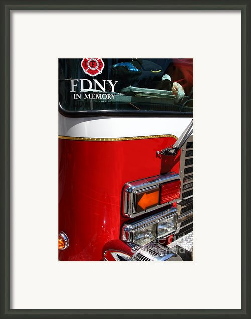 Kensington Fire District Fire Engine . 7d15881 Framed Print By Wingsdomain Art And Photography