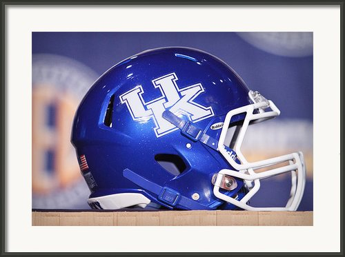 Kentucky Wildcats Football Helmet Framed Print By Icon Sports Media