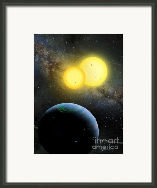 Kepler-35 Framed Print By Lynette Cook