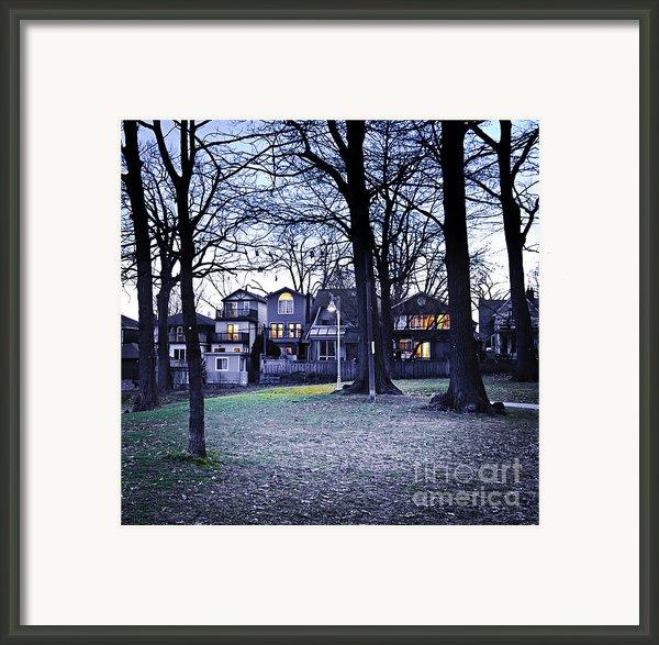 Kew Park At Dusk Framed Print By Elena Elisseeva