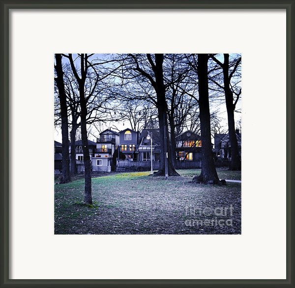 Kew Park At Dusk Framed Print By Elena Elisseeva