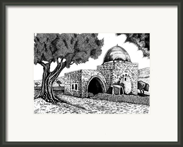 Kewer- Tomb  Rachel Framed Print By Jonatan Kor