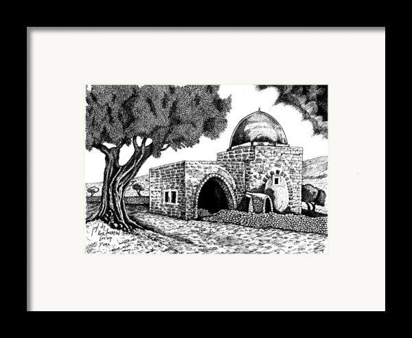 Kewer- Tomb  Rachel Framed Print By Jonatan Kor
