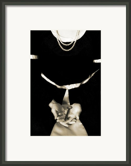 Key Framed Print By Joana Kruse