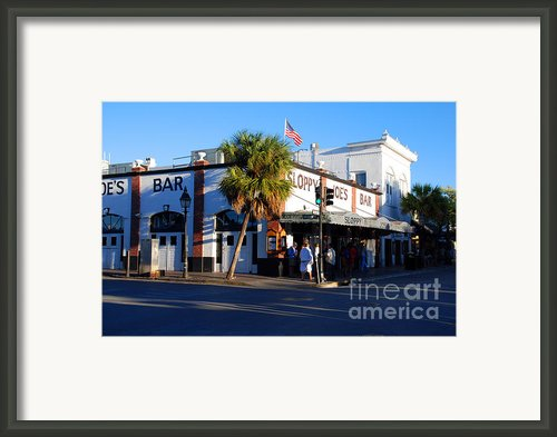 Key West Bar Sloppy Joes Framed Print By Susanne Van Hulst