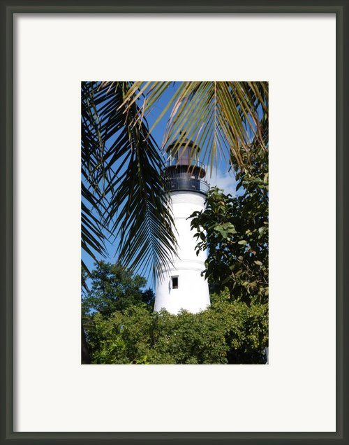 Key West Lighthouse Framed Print By Susanne Van Hulst