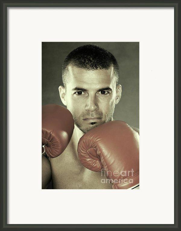 Kickboxer Framed Print By Oleksiy Maksymenko