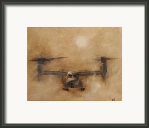 Kicking Sand Framed Print By Stephen Roberson